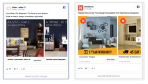 comparing facebook ads
